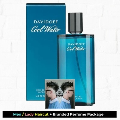 Sixty-Two Hair Glooming Hair Cut Service + Perfume (Davidoff Cool Water EDT 125ml) Package