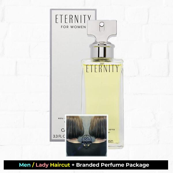 Sixty-Two Hair Glooming Hair Cut Service + Perfume (Calvin Klein cK Eternity EDP 100ml) Package