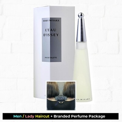 Sixty-Two Hair Glooming Hair Cut Service + Perfume (Issey Miyake Leau Dissey EDT 100ml) Package