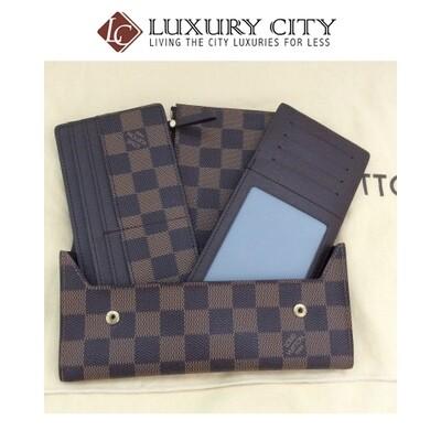 [Luxury City] Preloved Louis Vuitton 3 in 1 Long Wallet Set