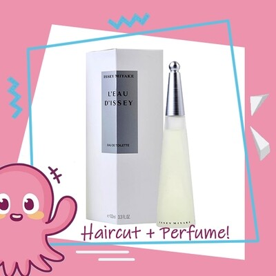 Hair Color Expert Malaysia Hair Cut Service + Perfume (Issey Miyake Leau Dissey EDT Women 100ml) Package