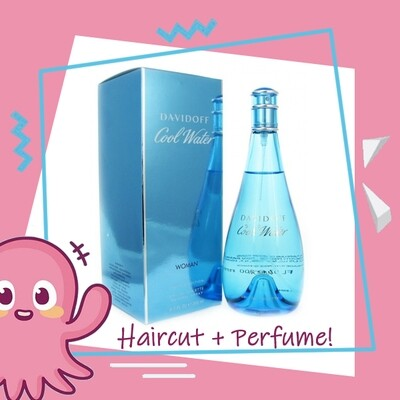 Hair Color Expert Malaysia Hair Cut Service + Perfume (Davidoff Cool Water EDT Women 100ml) Package