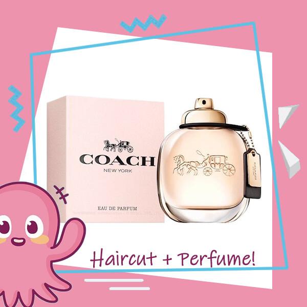 Hair Color Expert Malaysia Hair Cut Service + Perfume (Coach EDP Women 90ml ) Package