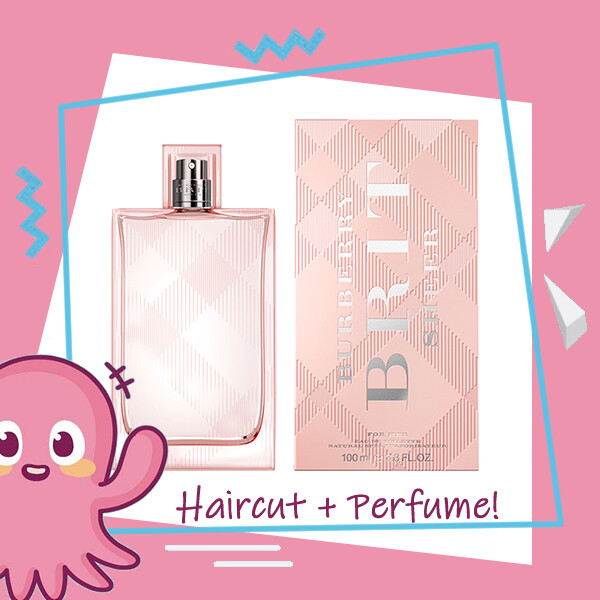 Hair Color Expert Malaysia Hair Cut Service + Perfume (Burberry Brit Sheer EDT Women 100ml) Package