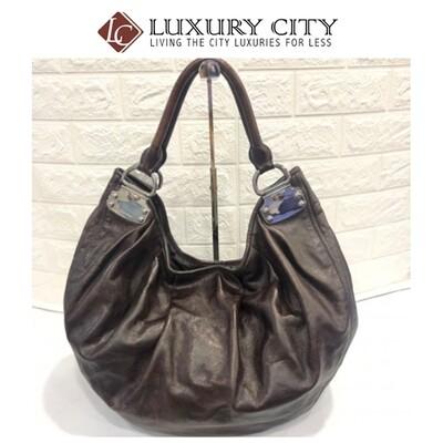 used Miumiu full leather shoulder carry bag