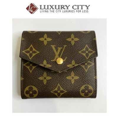 [Luxury City] Preloved Vintage Louis Vuitton Monogram Double Sided Short Wallet