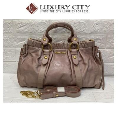 Preloved miumiu 2 ways carry bag