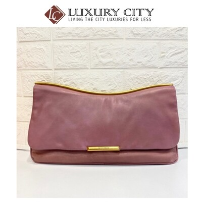 Preloved Miu Miu full leather Clutch bag