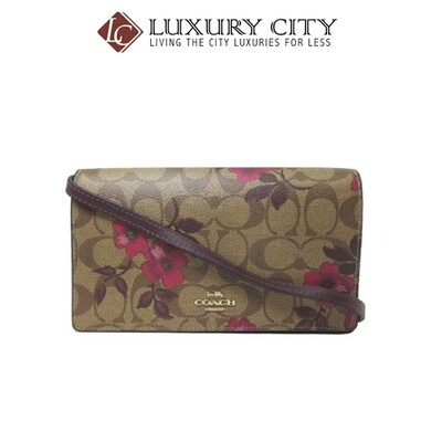 [Luxury City] Coach Hayden Foldover Crossbody Clutch In Signature Canvas With Victorian Floral Print Coach-F87765