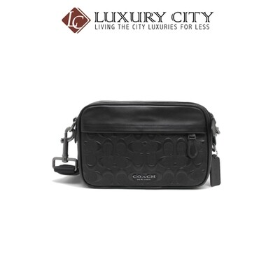 [Luxury City] Coach Graham Crossbody In Signature Leather Black Coach-F50713