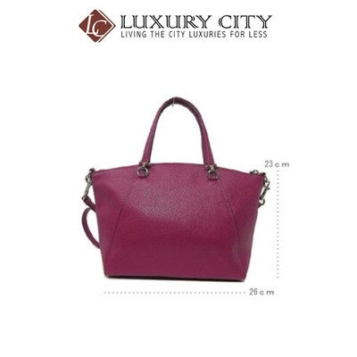 [Luxury City] Coach Prairie Satchel Dark Purple Coach-F79997