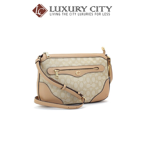 [Luxury City] Coach Ivie Messenger In Signature Jacquard Coach-F73326