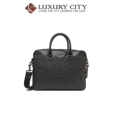 [Luxury City] Coach Beckett Compact Brief In Signature Canvas Black Coach-F73420