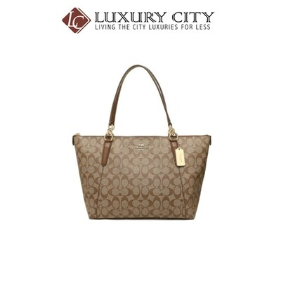 [Luxury City] Coach Ava Tote In Signature Coach-F58318 (Mahogany)