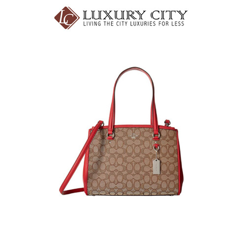 COACH STANTON CARRYALL IN SIGNATURE RED COACH-F36912