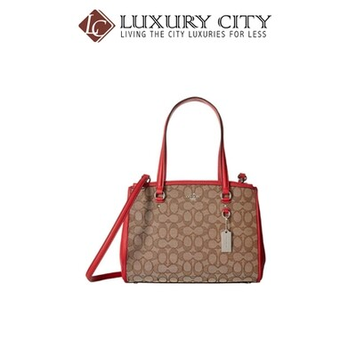 [Luxury City] Coach Stanton Carryall In Signature Red Coach-F36912