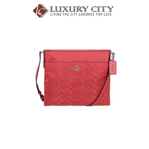 [Luxury City] Coach File Crossbody In Signature Nylon Red Coach-F73187