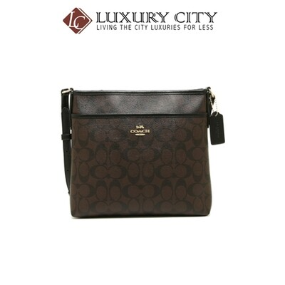 [Luxury City] Coach File Crossbody In Signature Canvas Coach-F29210 (Mahogany)