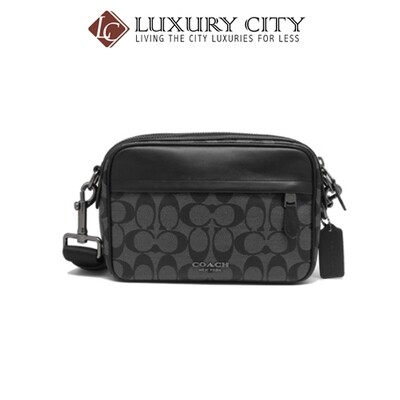 [Luxury City] Coach Graham Crossbody In Signature Canvas Coach-F50715 (Black)
