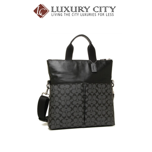 [Luxury City] Coach Charles Foldover Tote In Signature