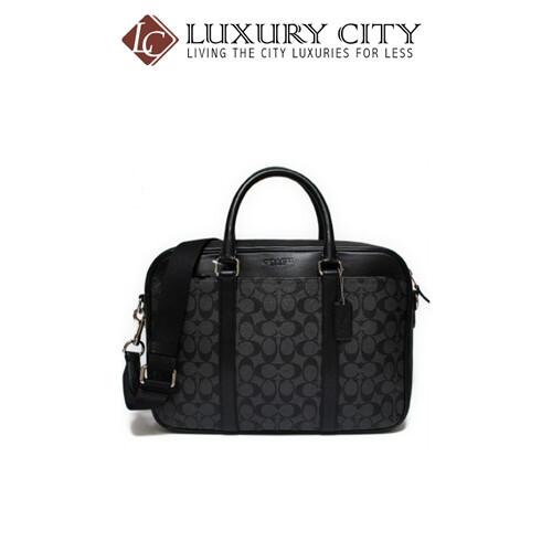 [Luxury City] Coach Slim Briefcase In Signature