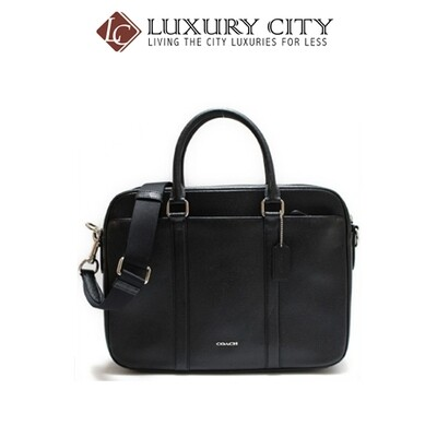 [Luxury City] Coach Perry Slim Brief In Crossgrain Leather