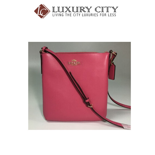 [Luxury City] Coach North/South Crossbody In Crossgrain Leather In Pink