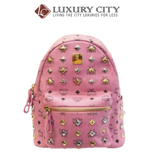 [Luxury City] Preloved Authentic Mcm Backpack Pink