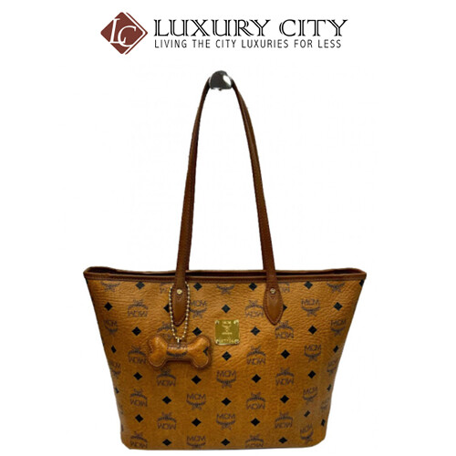 [Luxury City] Preloved Authentic Mcm Dog Bone Tote