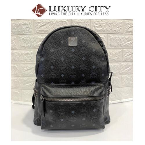 [Luxury City] Preloved Mcm Backpack L Size