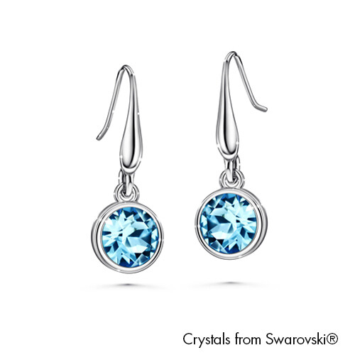 LUSH Solitaire Birthstone Hook Earring (Available in 12 Colours)