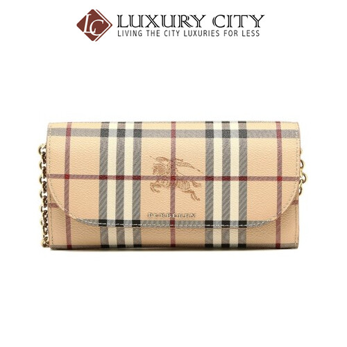 [Luxury City] Burberry Haymarket Check Chain Light Brown Burberry-4060979