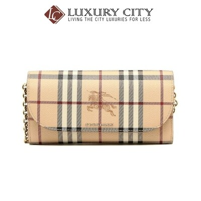 [Luxury City] Burberry Haymarket Check Chain Light Brown Burberry-4060979