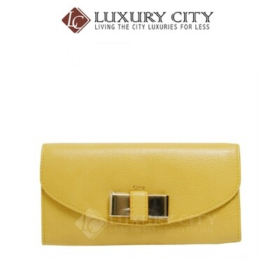 [Luxury City] Chloe Portefeuille Straw Long Wallet