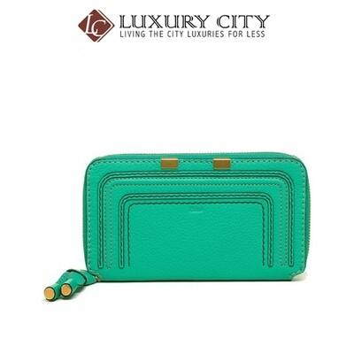 [Luxury City] Chloe' Wallet Marcie Long Zip 3P0571 Jade Green