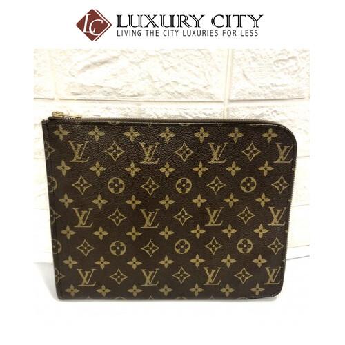 [Luxury City] Preloved Vintage Louis Vuitton Monogram Clutch Bag