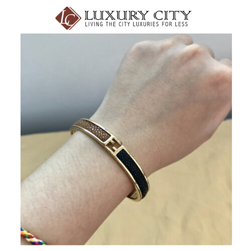 [Luxury City] Preloved Used Fendi Bracelet The Fendiasta Gold Plated