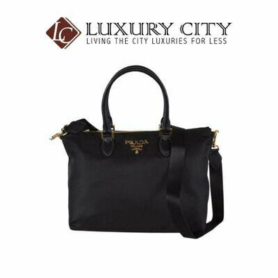 [Luxury City] Prada Borsa A Mano Black Nylon 2-Way Zip Purse Handbag Bag Prada-1BA278
