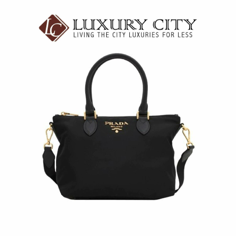 [Luxury City] Prada Tessuto Nylon & Saffiano Leather Satcheol Bag Black Prada-1BA275