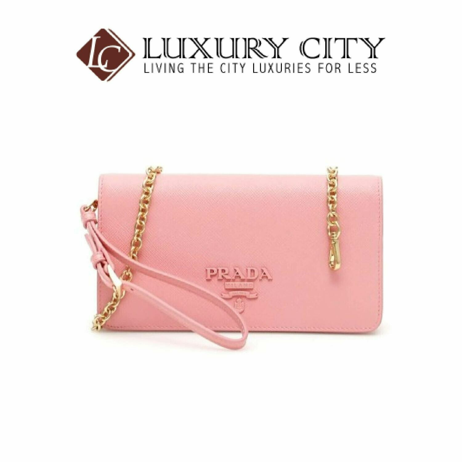 [Luxury City] Prada Mini Saffiano Bag Prada-1DH029 (Light Pink)