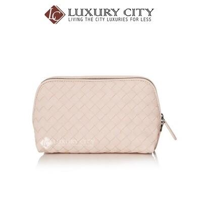 [Luxury City] Bottega Veneta Woven Cosmetic Pouch Cream