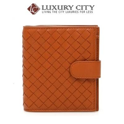 [Luxury City] Bottega Veneta Ntrecciato Wallet Orange Bottega-121059
