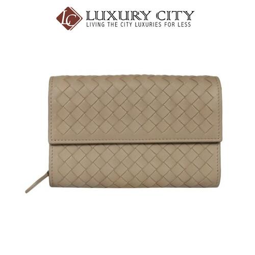 [Luxury City] Bottega Veneta Intrecciato Nappa Wallet Grey Bottega-513940