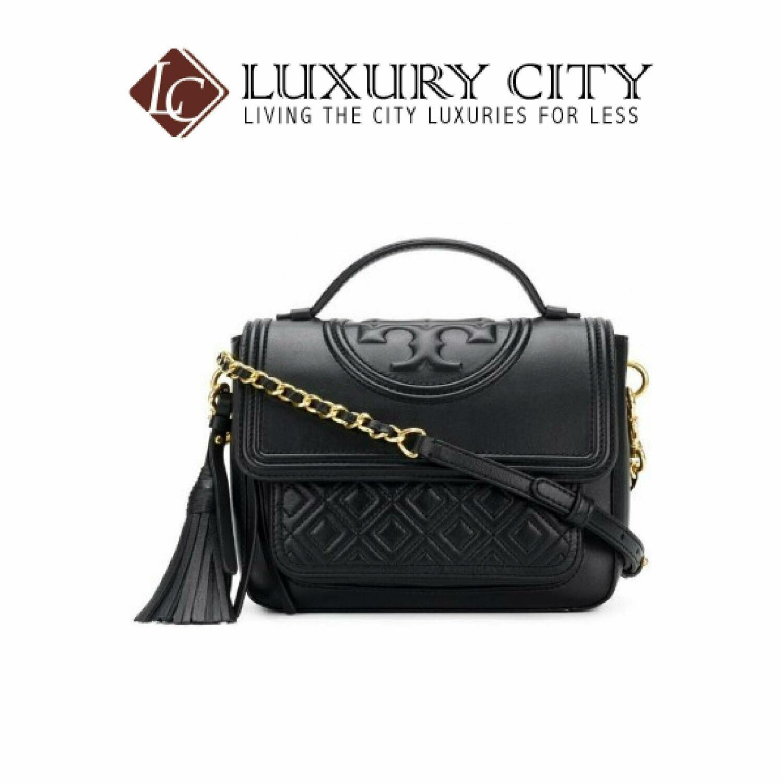 [Luxury City] Tory Burch Fleming Satchel Black Toryburch - 45174
