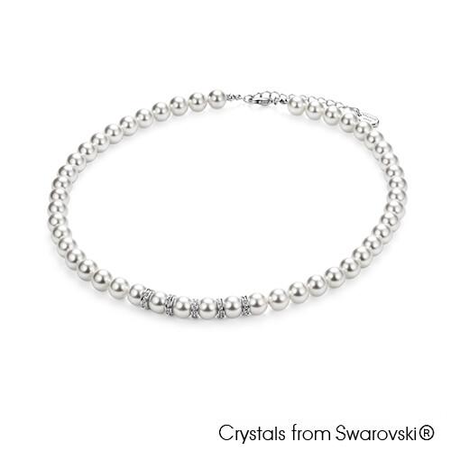 LUSH Classic Swarovski Pearl Necklace