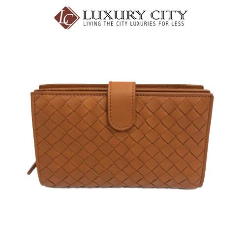 [Luxury City] Bottega Veneta French Wallet Orange Bottega-121060