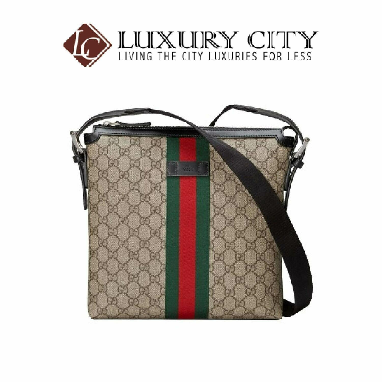 [Luxury City] Gucci Web GG Supreme Messenger Brown Gucci- 387111