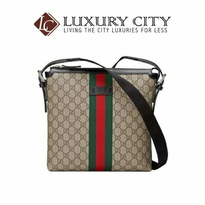 [Luxury City] Gucci Web GG Supreme Messenger Brown Gucci- 387111