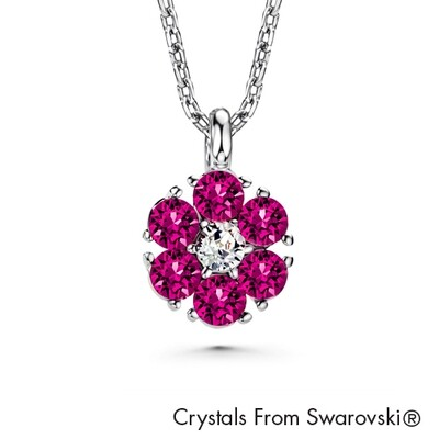 LUSH Flower Birthstone Necklace (Available in 12 Colours)
