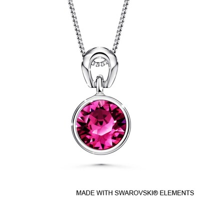 LUSH Solitaire Birthstone Necklace (Available in 12 Colours)